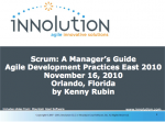 Scrum: A Manager's guide
