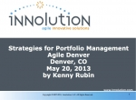 Strategies for Portfolio Management (Agile Denver)