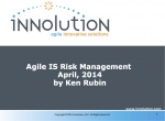 Agile IS Risk Management - April 2014